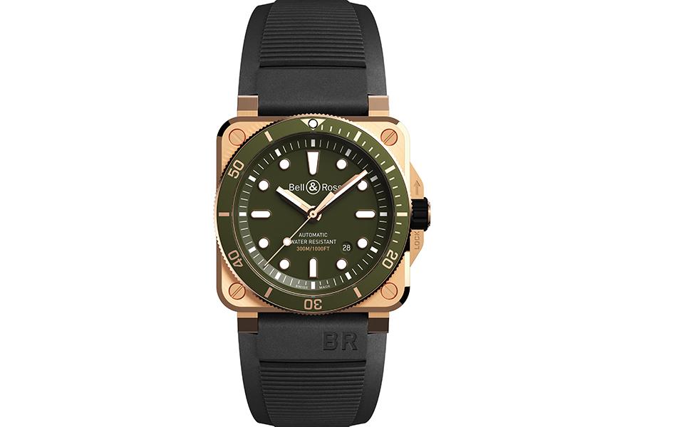 BR03-92 Diver Green Bronze -  Alianças fortes e exclusivas