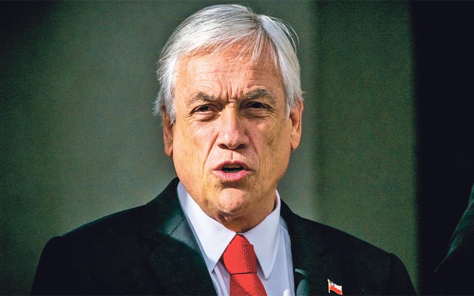 Sebastián Piñera:  Era um bilhete  de metro  para o mundo,  se faz favor