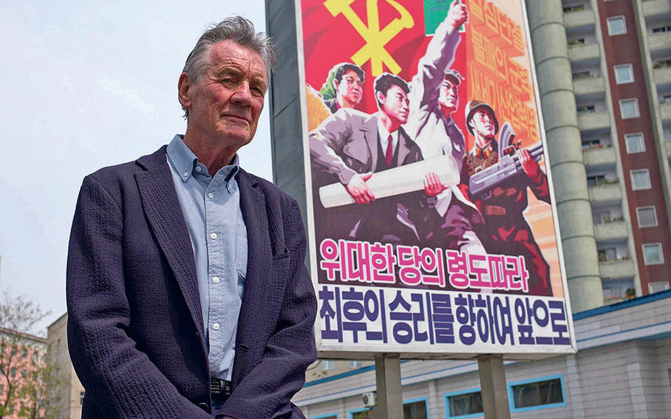 Michael Palin na Coreia do Norte:  'Silly walks' e cartazes de ideias
