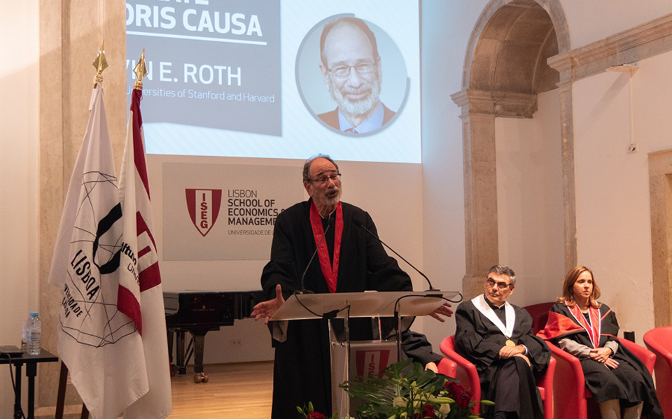 Alvin Roth recebe  título Doutor Honoris no ISEG em Lisboa