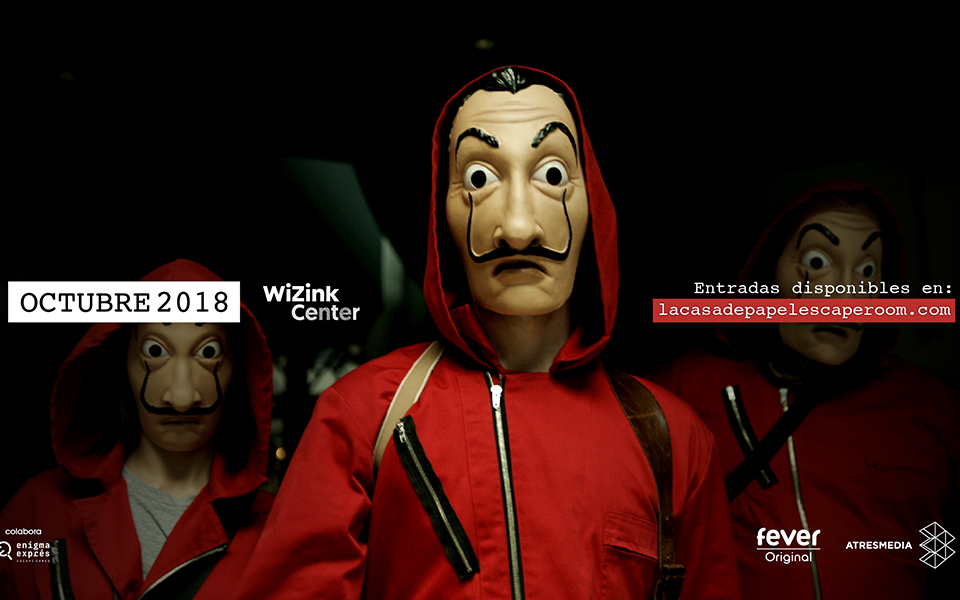 La Casa de Papel Regresso no maior 'Escape Room' da Europa