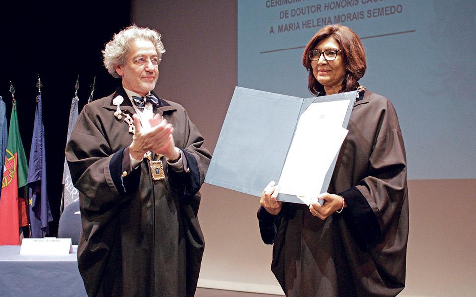UAb atribui grau Doutor Honoris  Causa a Helena Morais Semedo