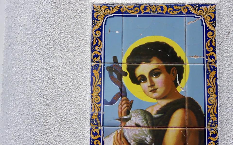 Pinturas de Henrique Leal patentes na Junta de freguesia da ribeira brava