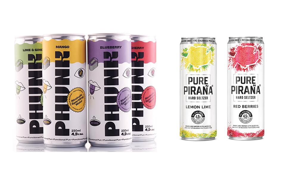 Hard Seltzers: Phunk e Pure Piraña vão agitar mercado nacional