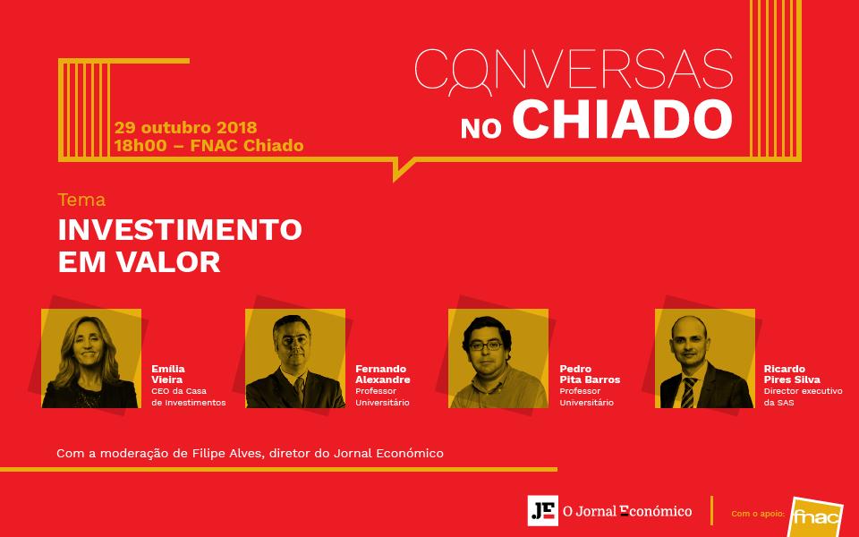 """""""Investimento em Valor"""" é o próximo tema das """"Conversas no Chiado"""""""