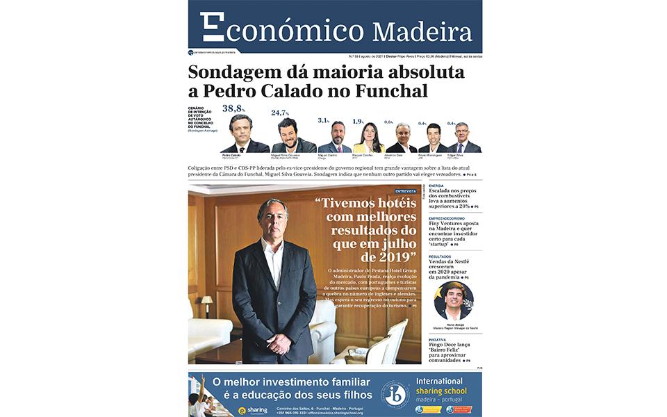 Sondagem do Económico Madeira indicou maioria absoluta de Calado