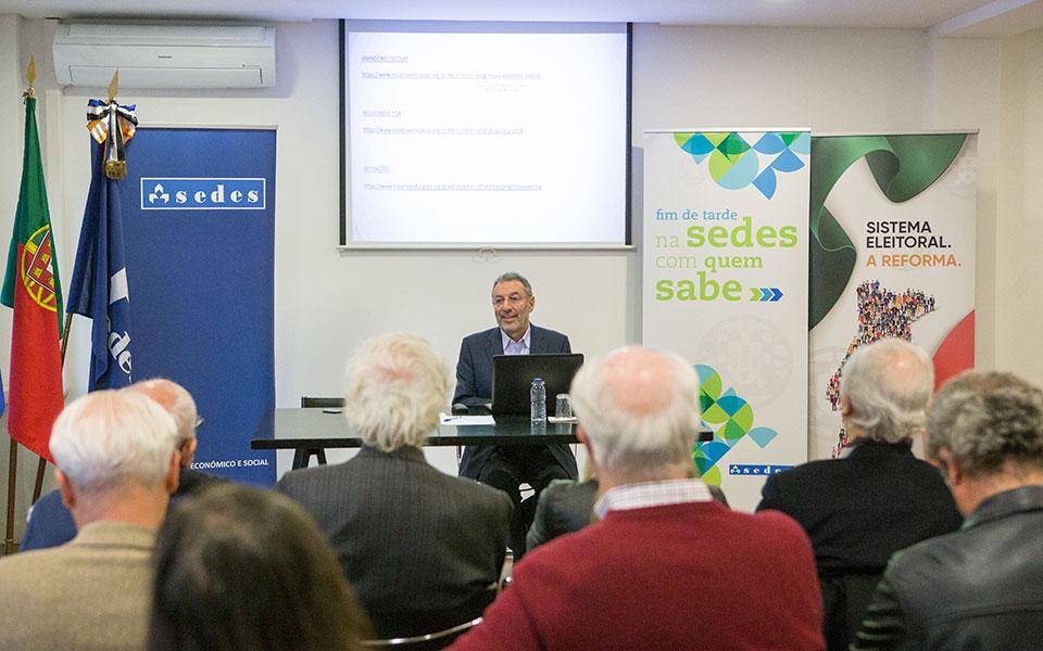 Adolfo Mesquita Nunes e Sérgio Sousa Pinto na Sedes