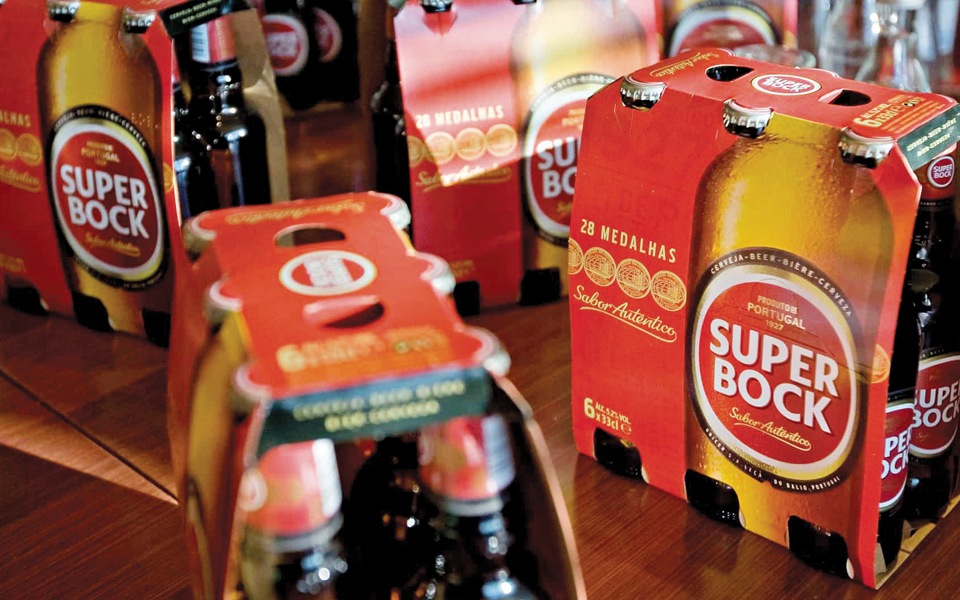 Marcas da Super Bock dominam quotas  do mercado interno